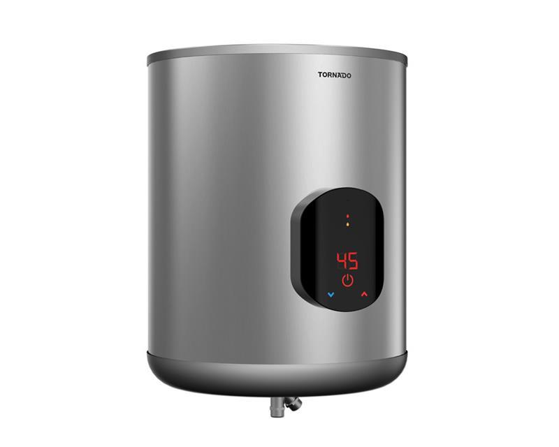 سخان مياه تورنيدو كهرباء 45 لتر مزود بشاشة ديجيتال لون سيلفر EWH-S45CSE-S