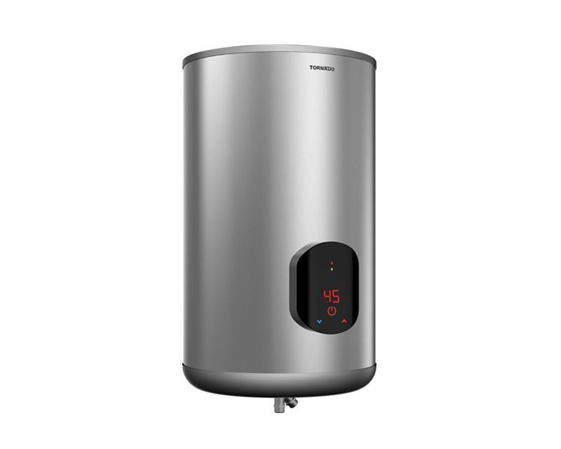 سخان مياه تورنيدو كهرباء 65 لتر سيلفر مزود بشاشة ديجيتال EWH-S65CSE-S