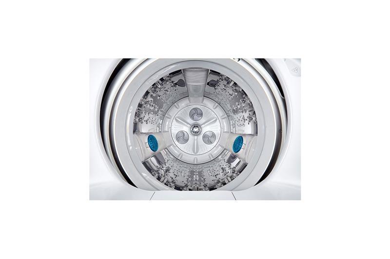 ال جى غسالة ملابس بسعة 13.2 كيلو فوق اتوماتيك محرك إنفرتر لون أبيض T1388NEHTA
