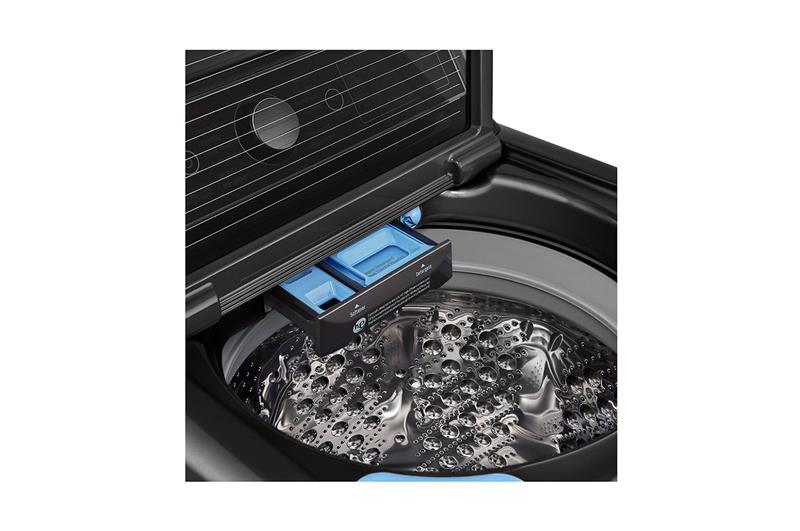 إل جي غسالة ملابس اوتوماتيك تحميل علوي 24 كيلو بمحرك الدفع المباشر بالسخان T2472EFHST5