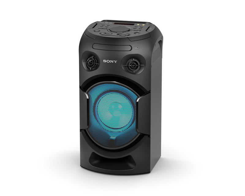نظام صوتي سوني عالي القدرة مزود بمشغل دي في دي يتصل بالبلوتوث MHC-V21D