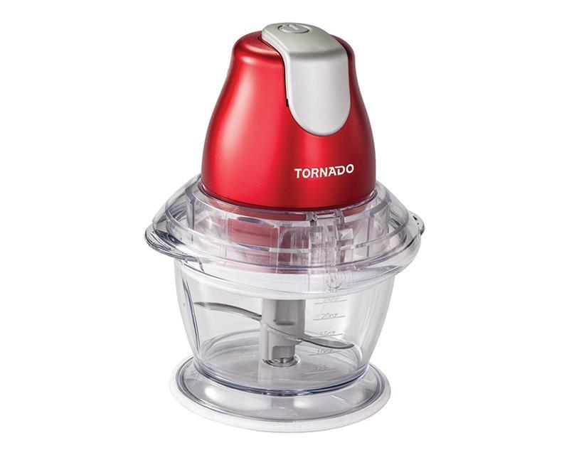 كبة تورنيدو قدرة 400 وات ، سعة 1 لتر لفرم اللحوم و الجبن ، تقطيع الملوخية و الخضروات لون أحمر CH-400MR