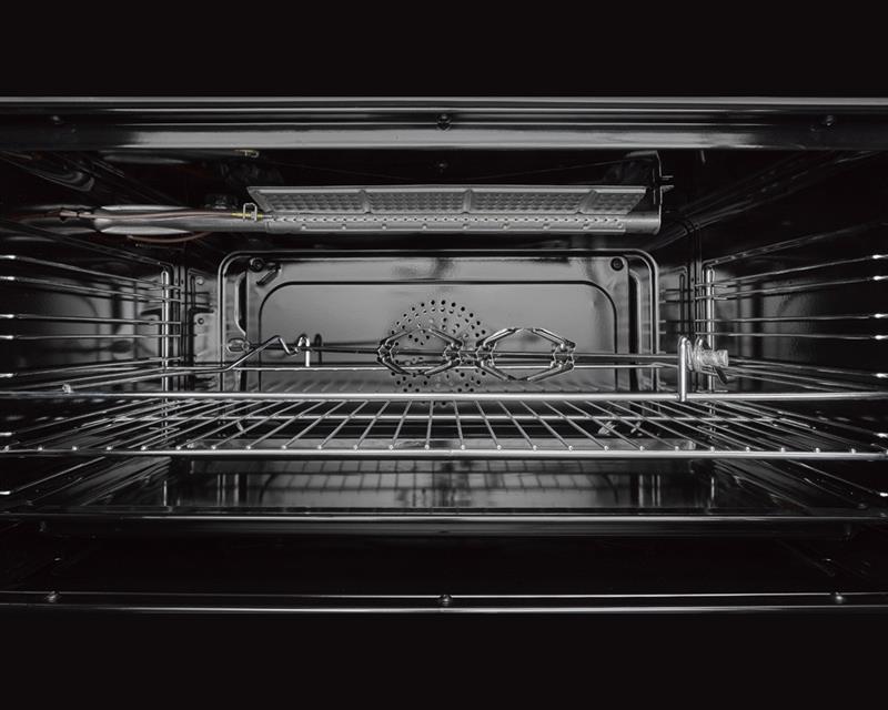 بوتاجاز لاجيرمانيا فري ستاند 90 × 60 سم 5 شعلة غاز لون استانلس × أسود مزود بغطاء زجاجي 9M10G4A1X4AWW