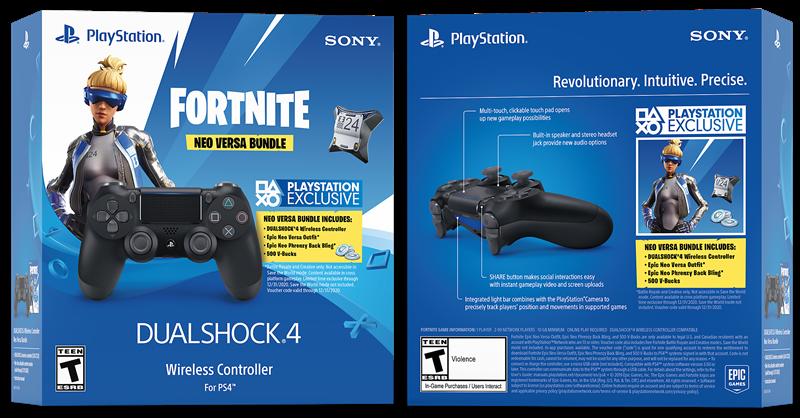 DualShock 4 Wireless Controller for PlayStation 4 - Fortnite Jet Black
