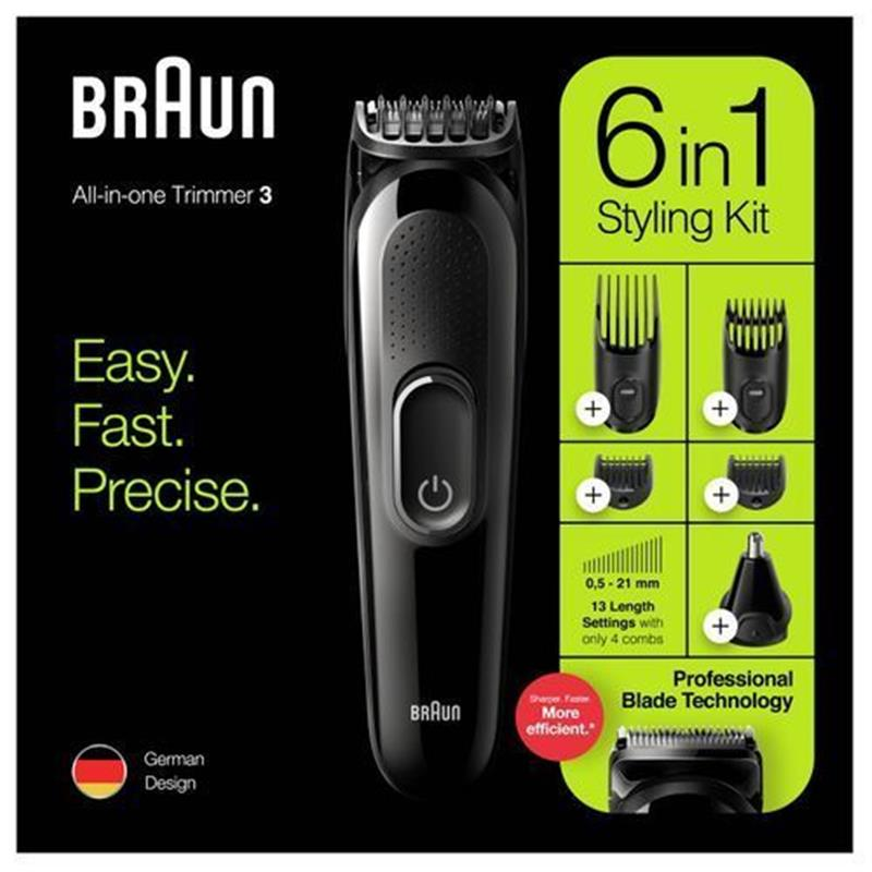 Braun MGK3220 6-in-1 Trimmer - Black