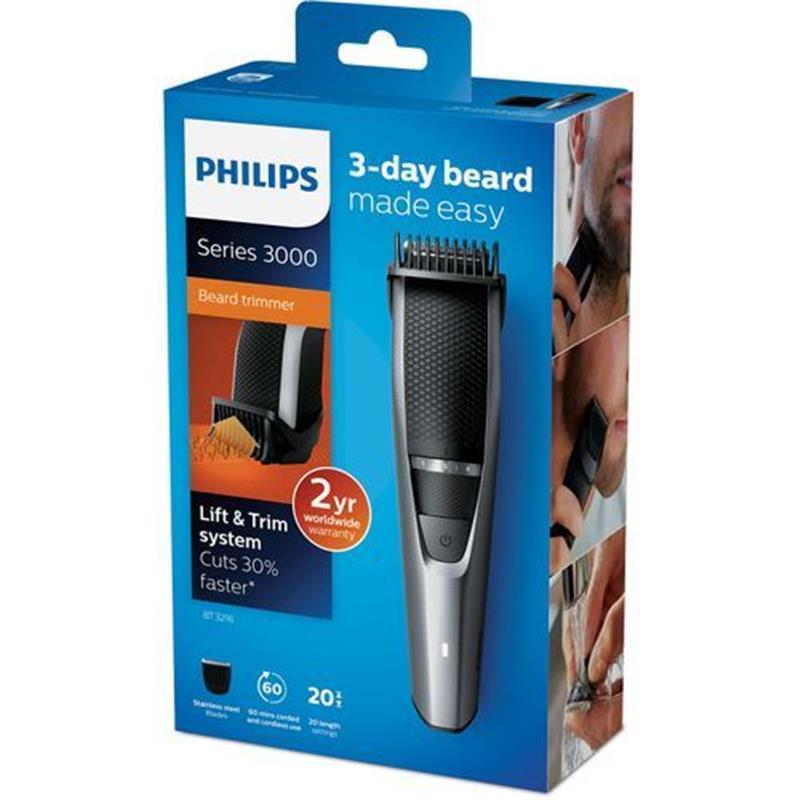 Philips BT3216/14 Beard Trimmer Lift & Trim System Cuts 30% Faster