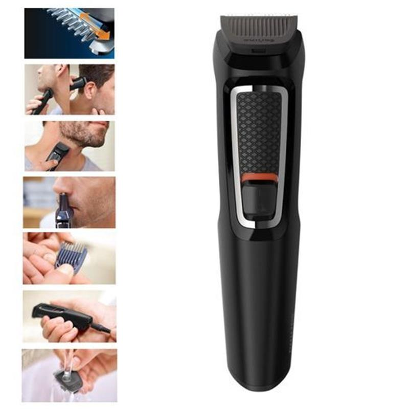 Philips MG3730/15 Multigroom Series 3000 8-in-1 Face And Hair Self-Sharpening Steel Blades - Black