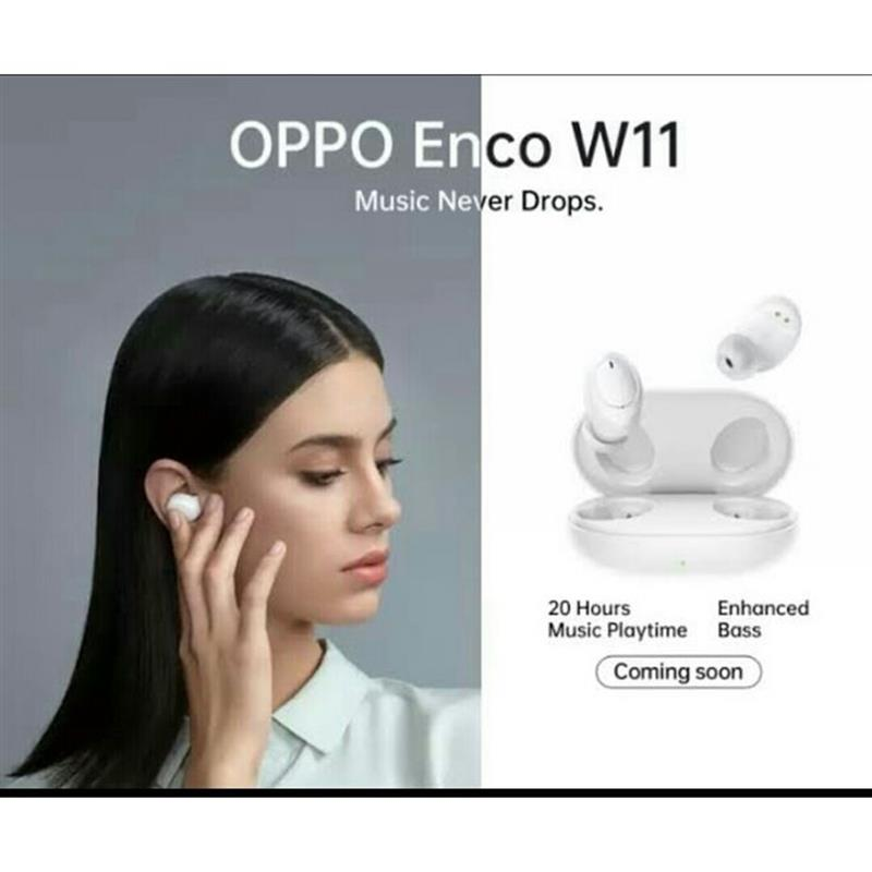 Oppo Enco W11 Bluetooth Headphone - White