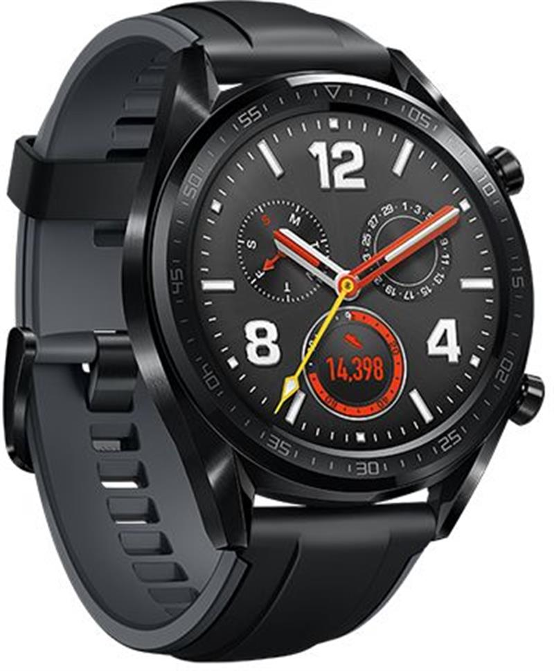 HUAWEI WATCH GT Sport Black Rubber Graphite Black Sport Strap FTN-B19
