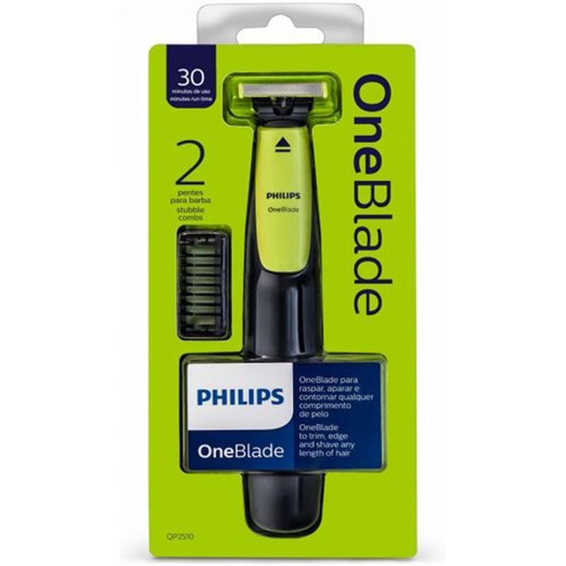 Philips ماكينة حلاقه وان بليد + 2 مشط Qp2510/10