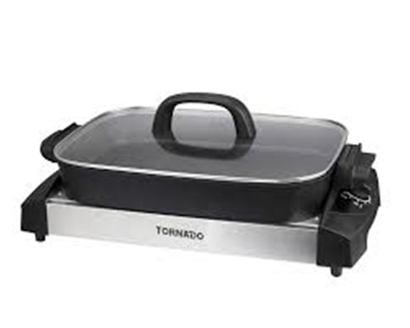 شواية كهربائية تورنيدو قدرة 1500 وات لون أسود × استانلس TCS-1500