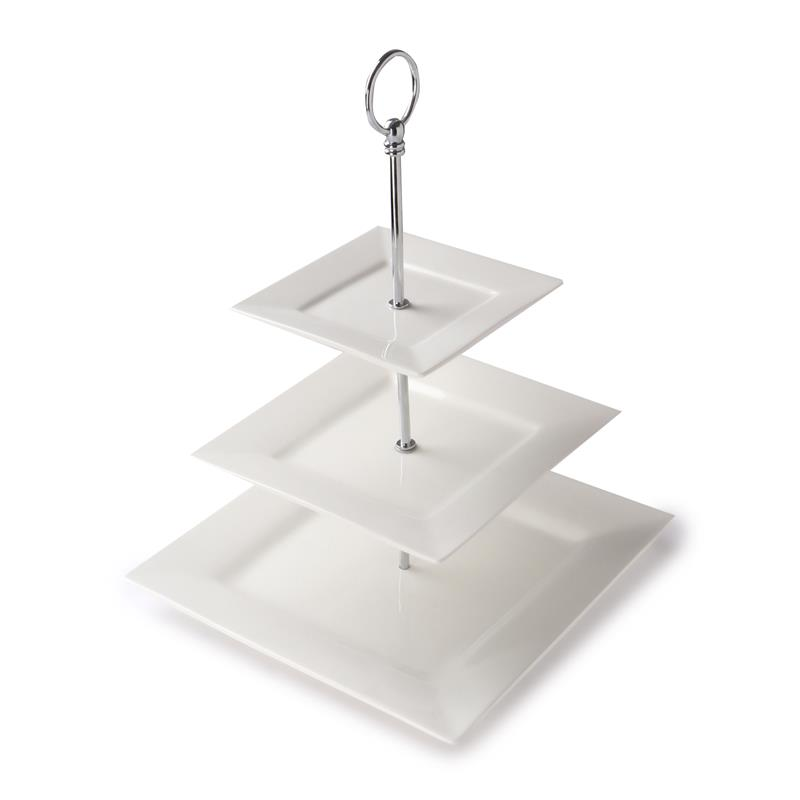 SQUARE Dish With Iron Stand