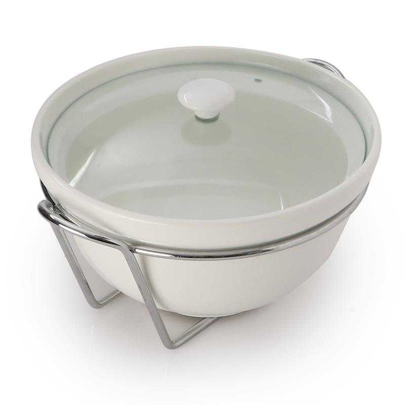 Serving Bowl With Iron Stand
