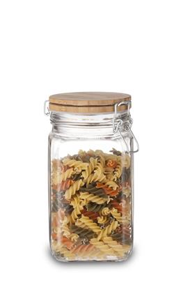 Single Storage Jar with Bamboo Lid - M