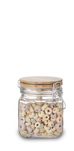 Single Storage Jar with Bamboo Lid - S