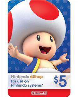 Nintendo eShop Gift Card $5 ( Digital codes )