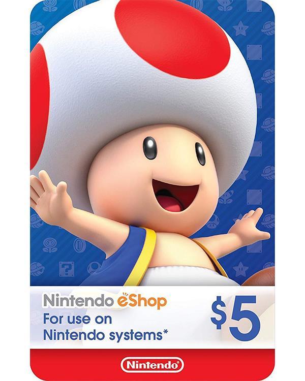 Nintendo eShop Gift Card $5 ( Digital codes )