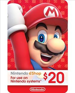 Nintendo eShop Gift Card $20 ( Digital codes )
