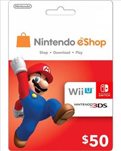 Nintendo eShop Gift Card $50 ( Digital codes )
