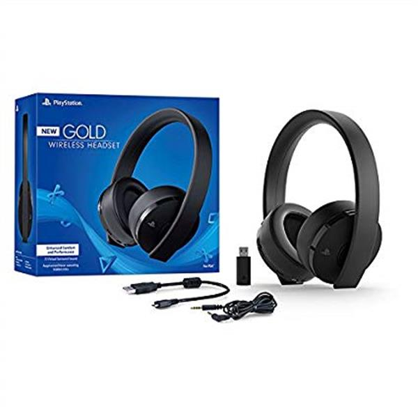 Sony PlayStation Gold Wireless Headset 7.1 Surround Sound PS4 New Version