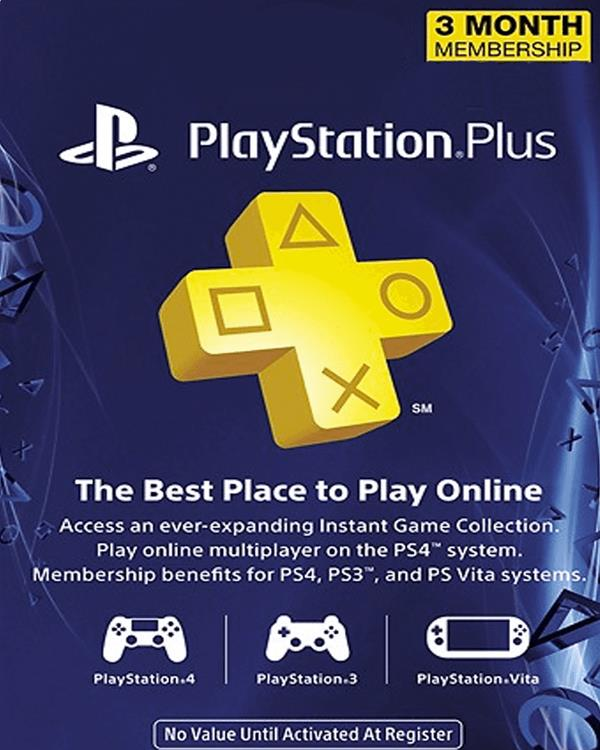 PlayStation Plus 3 month US