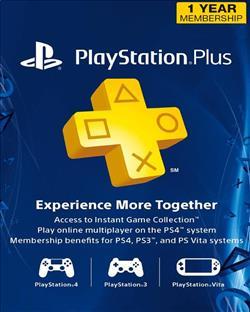 PlayStation Plus 1 Year Mem US