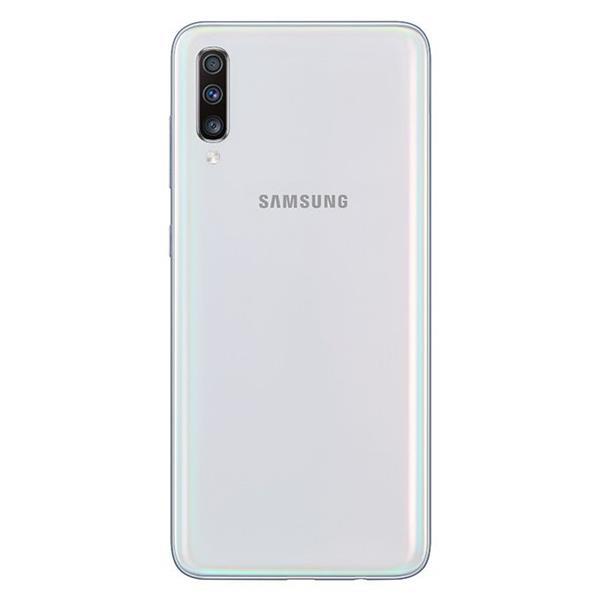 Samsung Galaxy A70 موبايل - 6.7-بوصة 128 جيجا بايت ثنائي الشريحة 4G - أبيض