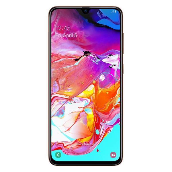 Samsung Galaxy A70 موبايل - 6.7-بوصة 128 جيجا بايت ثنائي الشريحة 4G - برتقالي