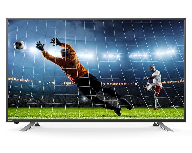 شاشة توشيبا 43 بوصة سمارت إل إي دي Full HD مزودة بريسيفر داخلى، مدخلين HDMI و مدخلين فلاشة 43L5865EA